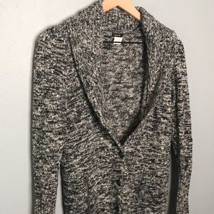 J. Crew gray merino wool blend cardigan sz M